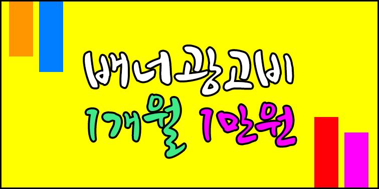 배너 광고비 1개월 1만원 『SEO박사』