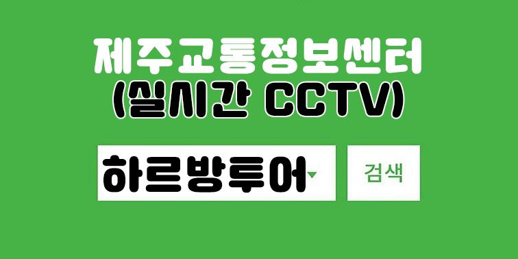 제주교통정보 실시간 CCTV 사이트 『제주하르방투어』